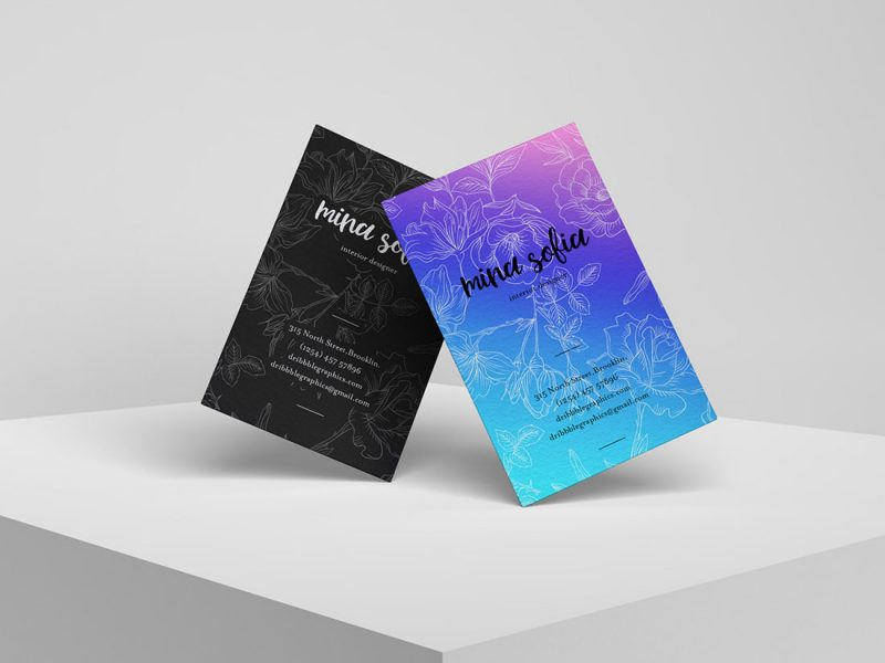 Free-Brand-PSD-Stylish-Business-Card-Mockup