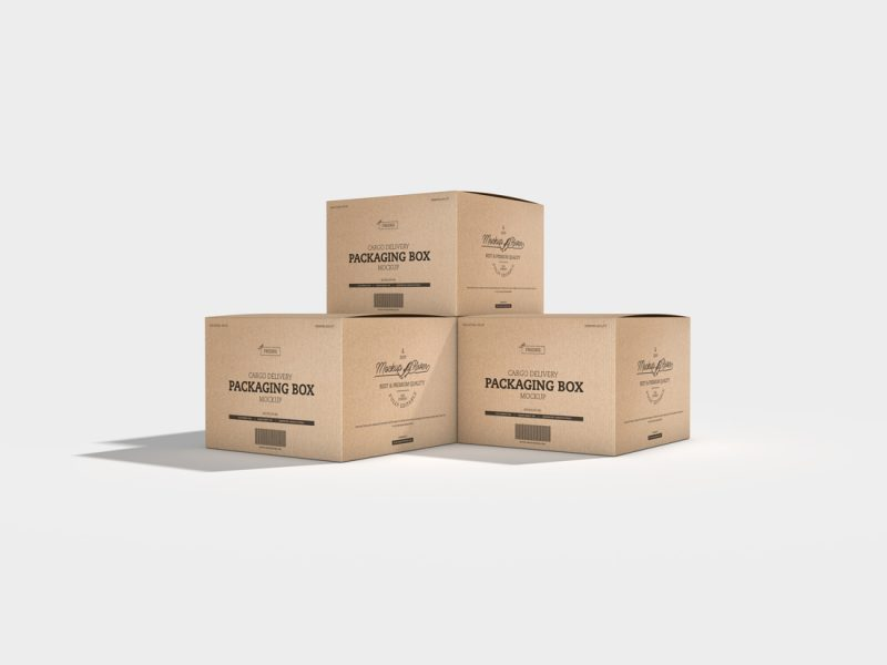 Cargo-Delivery-Packaging-Box-Mockup