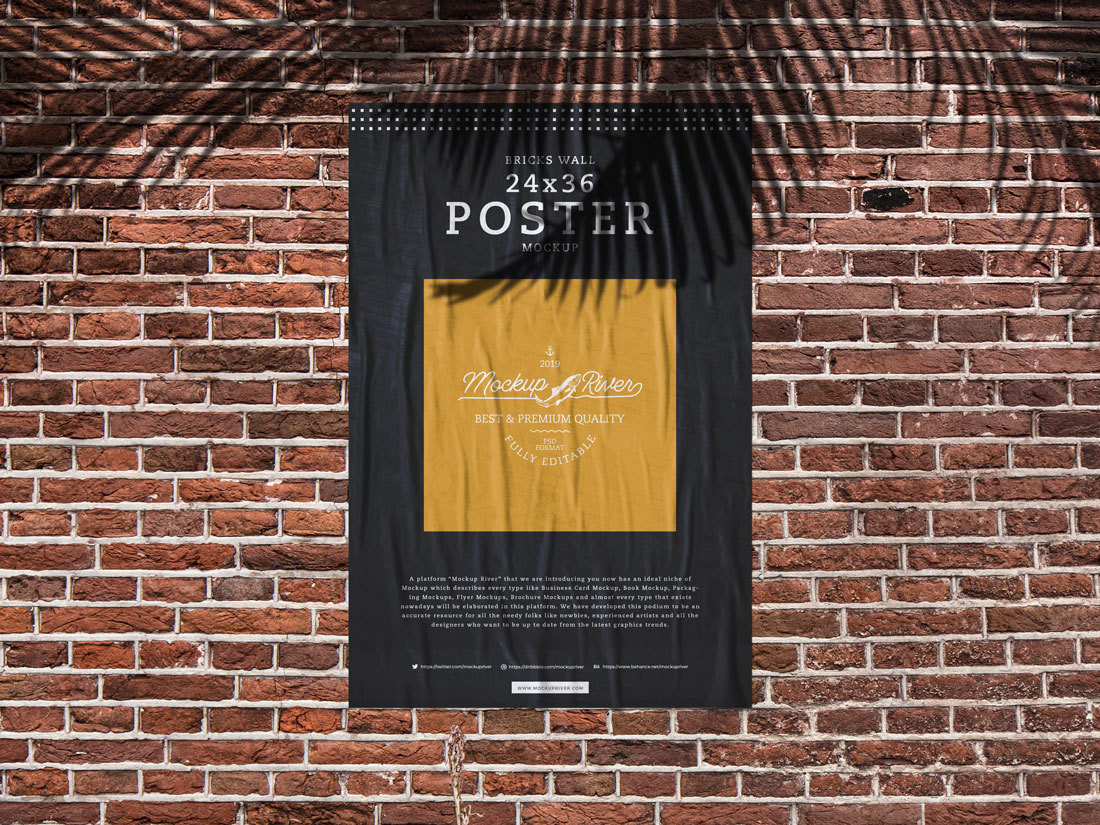 Bricks-Wall-24x36-Poster-Mockup-River
