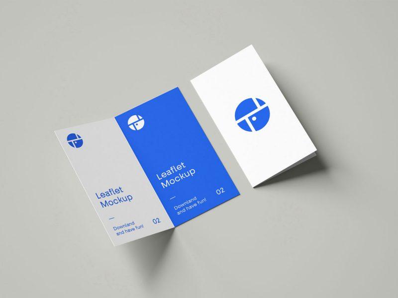 Free Bi Fold Leaflet Brochure Mockup 800x600 - Bi-Fold Leaflet Brochure Mockup