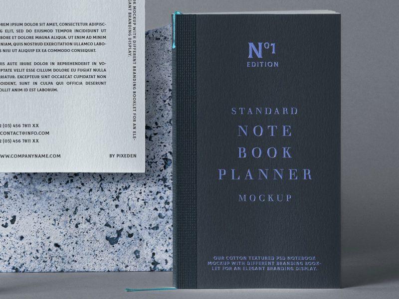free notebook mockup