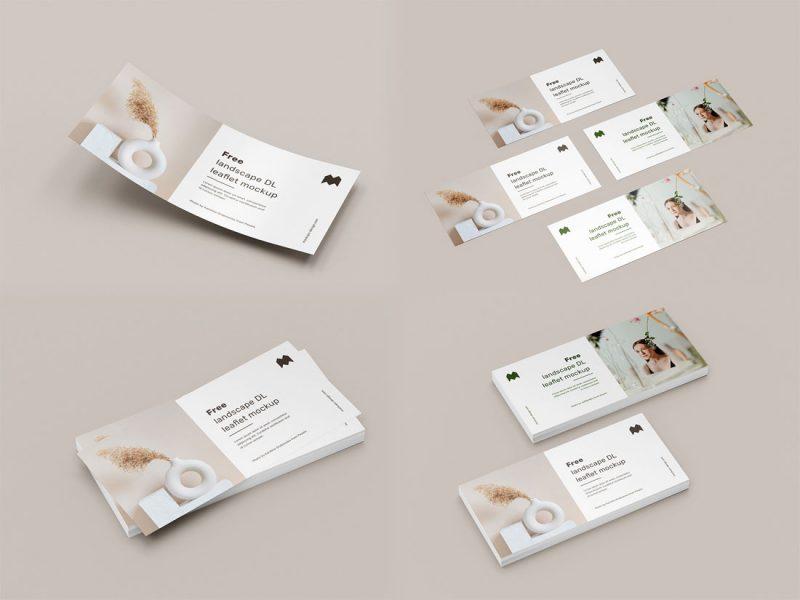 Free-Branding-Set-of-DL-leaflet-Mockup